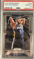 2019-20 Panini Prizm ZION WILLIAMSON RC #248 Rookie Pelicans PSA 10 GEM MINT