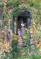 HASSAM ISLES OF SHOALS GARDEN ARTIST PAINTING REPRODUCTION HANDMADE CANVAS REPRO