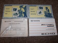 2001 Toyota Echo Factory Owner Owner's User Guide Manual 1.5L 4 Cylinder