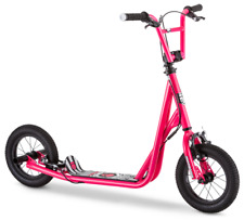 """Kids Freestyle BMX Brake Rotor Scooter w/ 12"""" Inflatable Air Tires Expo Pink"""