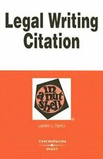 Legal Writing Citation in a Nutshell (Nutshells), Teply, Larry, New Book