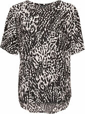 Animal Print Crew Neck Tops & Shirts Plus Size for Women