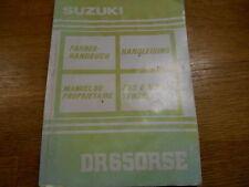 Suzuki DR650SE 1991 Owners handbook, German French Dutch Italian