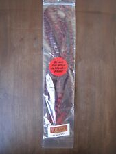 """Fly Tying-Whiting Schlappen Bundle 10-14"""" Grizzly dyed Red"""
