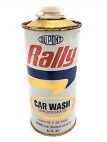 Vintage DuPont Rally Cream Wax Metal Can 70s