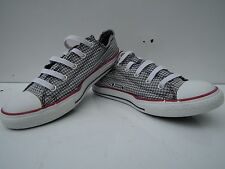 UNISEX Converse All star Grey/white Checkered Trainers size UK 3 EU 35.5