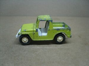 JEEP PICKUP TRUCK  TOOTSIE TOY   lime green/white  from 1969