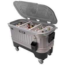 Large Igloo Cooler on Wheels Ice Chests Coolers w LED Lights Tailgate Barbeque