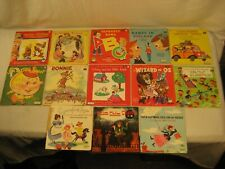 VINTAGE CHILDREN 78 RPM RECORDS PETER PAN & MORE  LOT OF 13