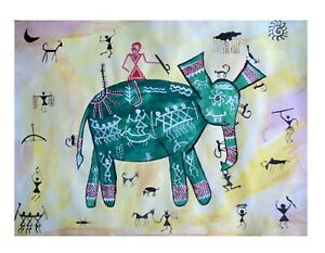 Indian art gallery Tribal painting