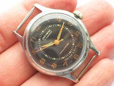 '1950s Vintage soviet Sportivnie watch 17J Military BLACK dial USSR / CCCP VGC+