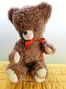 Grand ours en peluche vintage 1970-Créations DANY Paris-made in France