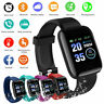 Bluetooth Smart Watch Heart Rate Blood Pressure Monitor Fitness For Android iOS