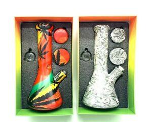 Fabulous  Smoking Set 9mm Glass  Bong metal  Grinder and smell proof pot