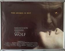 Cinema Poster: WOLF 1994 (Version 2 Quad) Jack Nicholson Michelle Pfeiffer