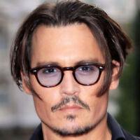 Tinted Fashion Eyeglasses Frame Vintage Clear Lens Johnny Depp Sunglasses UV400