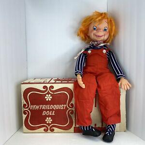 Vintage Otis O'Brien Ventriloquist Dummy  1972 Uneeda Doll Co.with box