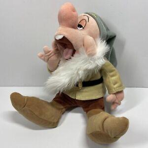 """Disney Parks Snow White Sleepy Dwarf Plush Stuffed Toy 12"""" Yawning,"""