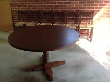 ANTIQUE SPANISH-STYLE DINING TABLE WITH 6 CHAIRS - BEAUTIFULLY KEPT!!