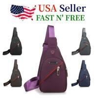 Waterproof Mini Sling Bag Cross Body Handbag Chest Shoulder Pack Sports Backpack