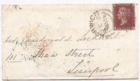 * 1856 NORWICH SIDEWAYS DUPLEX 1d STAR COVER GREEN UDC BRACON ASH >LADY LOCKHART