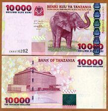 Tanzania, 10000 Shilingi, ND (2003), Pick 39, UNC > Elephant