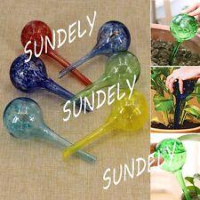 6 Pieces Aqua Glass Globes Plant Self Watering System Outdoor Garden Pot Tools