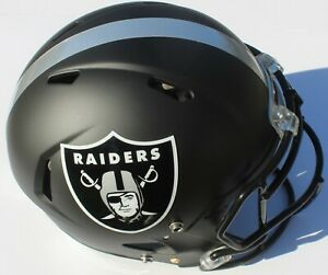 Oakland Raiders Custom Speed Blaze Football Helmet QB Quarterback Decals Used