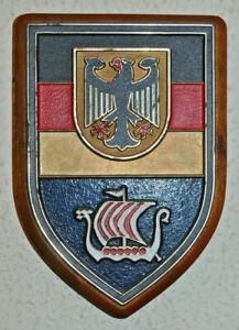 German Territorialkommando Schleswig-Holstein plakette wall plaque shield NATO