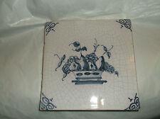 Antique Delft Tile FRUIT BOWL ARRANGEMENT  Blue and White