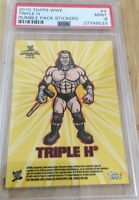 Triple H 2010 Topps Wwe Rumble Pack Sticker Card Psa Graded 9 HHH pop 1