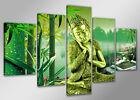Tableau Déco Moderne bouddha 5 partie Image sur toile 160x80 cm