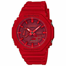 Casio G-Shock Red Carbon Core Guard 2100 Series GA-2100-4A Watch New