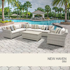 New Haven 8 Piece Outdoor Wicker Patio Furniture Set 08d
