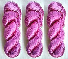 Embroidery Silk 3 Skeins Yarn Lace Fabric 345g Woven Thread Knit Work Sari Skein