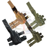 NEW KOMBAT TACTICAL NYLON DROP LEG HOLSTER RIG,BTP CAMO,DPM,BLACK & OLIVE GREEN