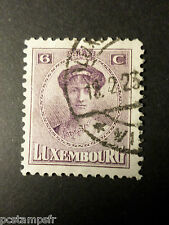 LUXEMBOURG, 1921-22, timbre CLASSIQUE 121, G D CHARLOTTE oblitéré, VF used stamp