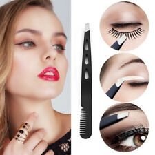 Eyebrow Tweezers Clip Eyelash Comb  Slant Tip Hair Removal Eyebrow Tools d
