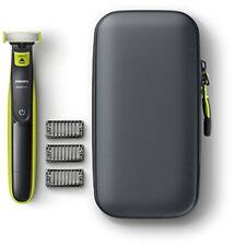 Maquinilla Philips Oneblade pack recortador de barba recargable estuche viaje