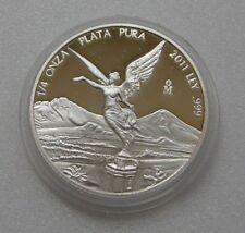 Mexico 2011 Libertad Plata Pura 1/4 oz 999 Fine Silver PROOF KM# 544