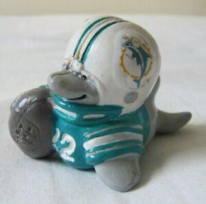 VINTAGE 1983 NFL HUDDLES MIAMI DOLPHINS PVC MASCOT FIGURE AMERICAN FOOTBALL