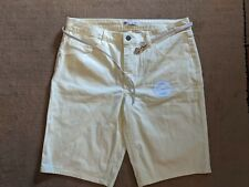 Riders by Lee Womens Mid Rise Bermuda Shorts Pastel Yellow Size 14 NWOT