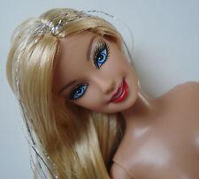 Barbie Doll Jointed Blonde Hair W/ Foil Steaks Blue Eyes NUDE NEW