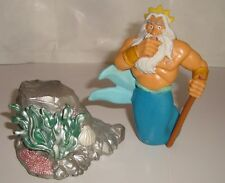 FIGURINE DISNEY APPLAUSE TRITON LE ROI  + ROCHER (9x7cm & 4x7cm)