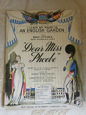 Vintage Sheet Music I Leave My Heart In An English Garden By H. Parr Davies-1950