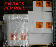 """Dry Cleaning 38"""" Clear Poly Garment Bags -460 bags/roll"""