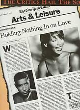 Whitney Houston and Babyface 1995 Promo Poster Ad