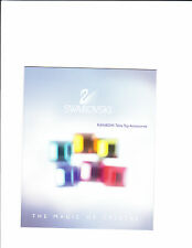 2001 Swarovski Rainbow Table Top Accessories Booklet The Magic Of Crystal