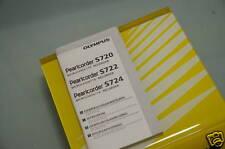 PRL) OLYMPUS RECORDER S720 MANUALE USO 4 LINGUE USER GUIDA ISTRUZIONI MANUEL