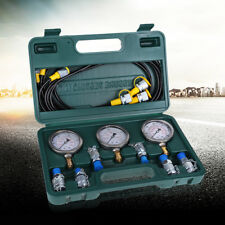 1 Set Hydraulic Pressure Test Kit with Testing Hose Coupling and Gauge HighQ